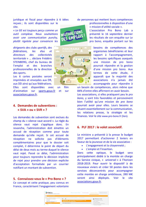 Newsletter de la Vie Associative
