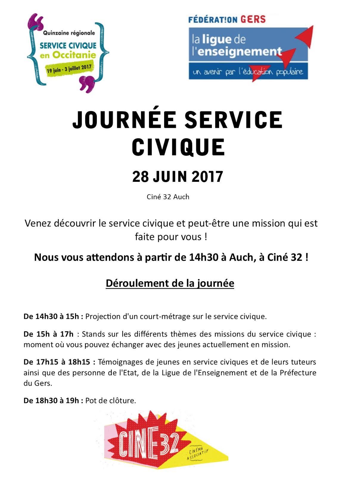 Journée Service Civique le 28 juin à Auch