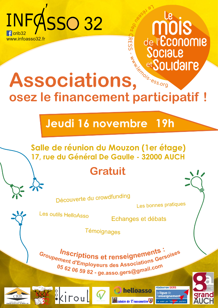 Affiche associations, osez le financement participatif !