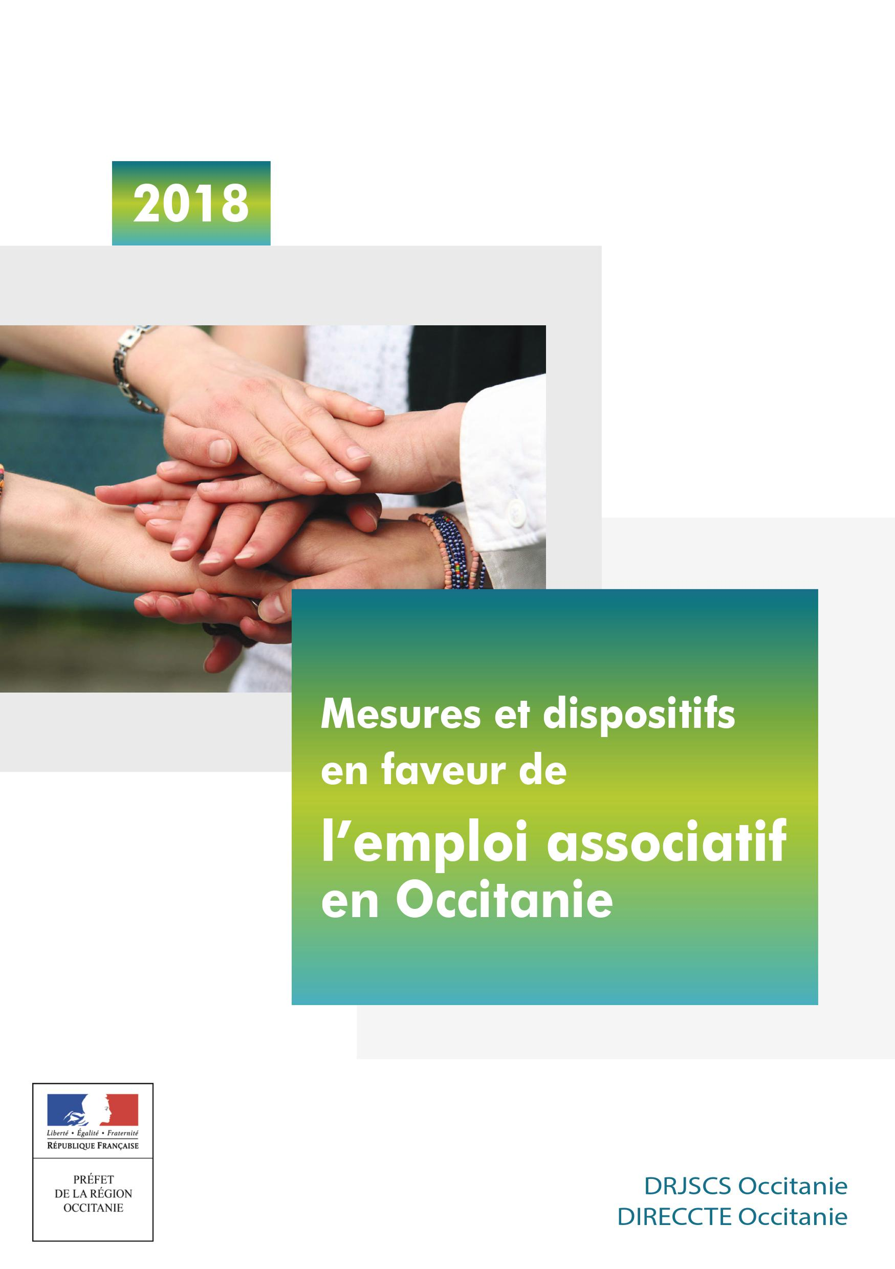 Couverture du guide sur l'emploi associatif en Occitanie