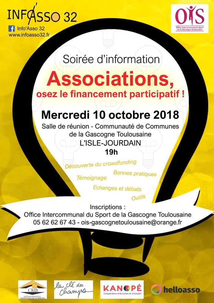Affiche soirée financement participatif à L'Isle-Jourdain