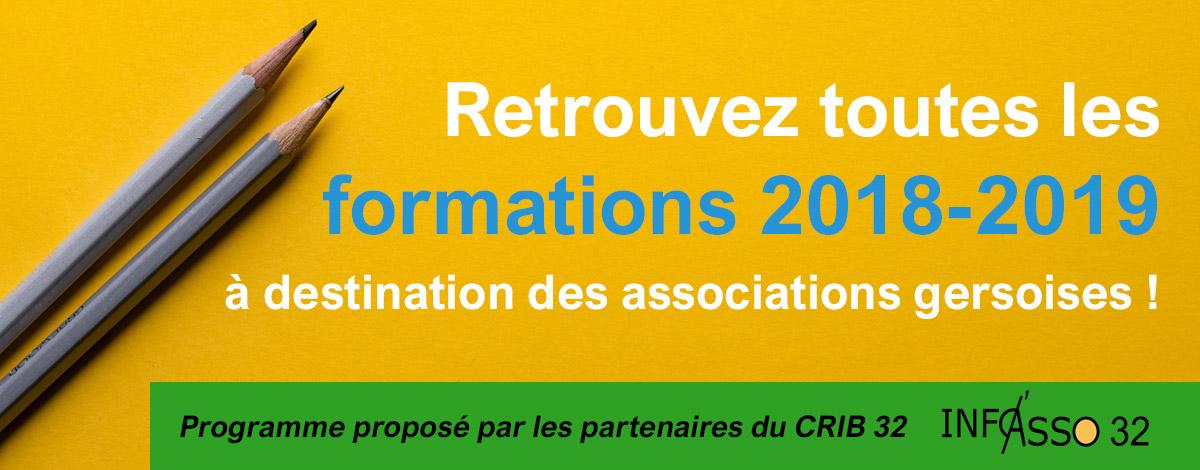 Retrouvez toutes les formations 2018-2019 à destination des associations gersoises