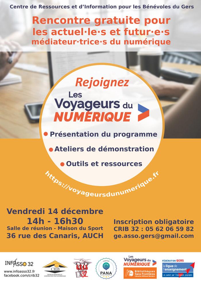 Affiche de la rencontre avec les Voyageurs du Numérique