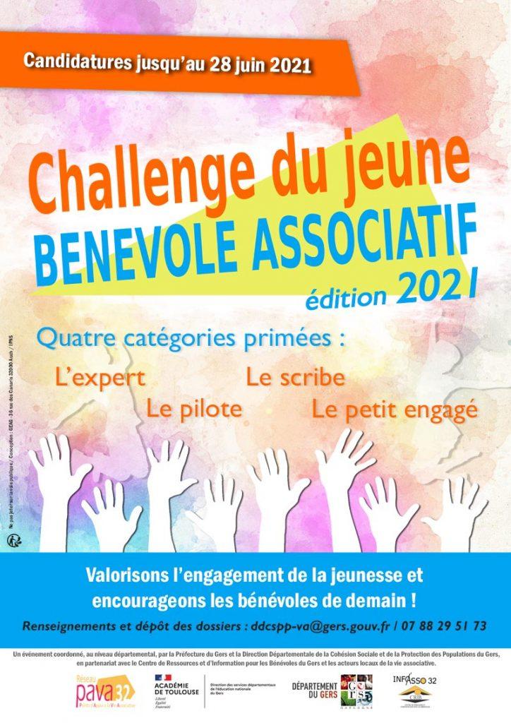 Affiche du challenge du jeune bénévole associatif 2021